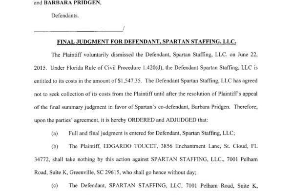 Toucet vs Startan Staffing and Pridgen - Final Judgement1024_1
