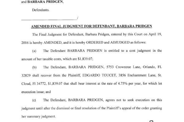 Toucet vs pridgen and Spartan Staffing Final Judgment1024_1
